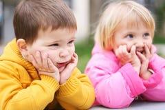 Bambini ridicoli Fotografie Stock Libere da Diritti