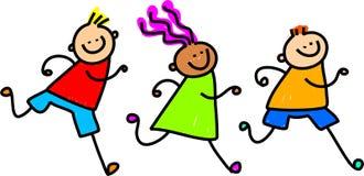 Bambini seguenti royalty illustrazione gratis