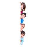 Bambini sopra il bordo bianco Immagine Stock Libera da Diritti