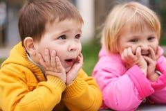 Bambini sorpresi Immagine Stock