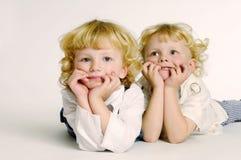 Bambini sorridenti Fotografia Stock Libera da Diritti