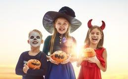Bambini su Halloween fotografia stock
