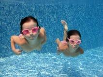 Bambini subacquei Fotografia Stock Libera da Diritti