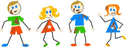 Bambini sudici Immagine Stock Libera da Diritti