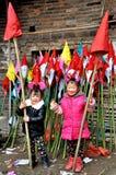 Bambini sul festival del rospo Immagine Stock