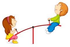 Bambini sul movimento alternato illustrazione di stock