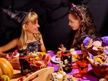 Bambini sul partito di Halloween Fotografia Stock Libera da Diritti