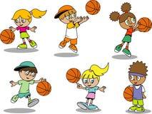 Bambini svegli di pallacanestro Immagine Stock