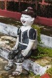 Bambini tailandesi figura, Clay Thai Art dell'alpinista Fotografia Stock Libera da Diritti