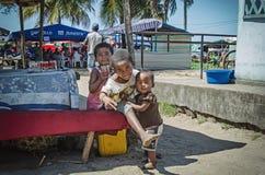Bambini trascurati nel Madagascar Immagini Stock