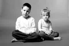 Bambini tristi Fotografia Stock
