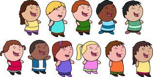 Bambini - un gruppo vario Fotografia Stock Libera da Diritti