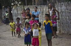 Bambini in un villaggio nel Myanmar Fotografia Stock Libera da Diritti