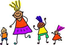 Bambini vari illustrazione di stock