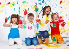 Bambini verniciati Immagine Stock