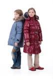Bambini in vestiti alla moda Fotografia Stock Libera da Diritti