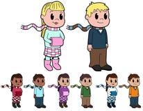 Bambini in vestiti di inverno Immagine Stock