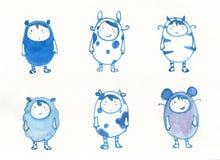 Bambini in vestito operato animale illustrazione di stock