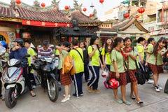 Bambini vietnamiti che lasciano classe Fotografia Stock Libera da Diritti