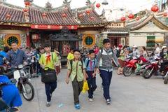 Bambini vietnamiti che lasciano classe Immagini Stock