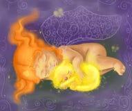 Bambino addormentato illustrazione vettoriale
