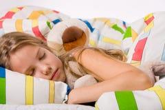 Bambino addormentato sveglio Immagini Stock Libere da Diritti