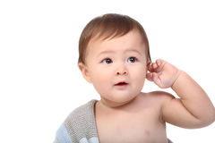 Bambino adorabile spostato in coperta Fotografia Stock Libera da Diritti