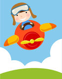 Bambino in aereo Immagine Stock Libera da Diritti