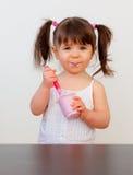 Bambino affamato Fotografia Stock Libera da Diritti