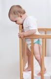 Bambino affascinante nella castella Fotografia Stock