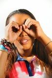 Bambino africano che guarda avanti Fotografia Stock Libera da Diritti