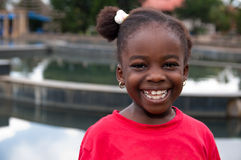 Bambino africano sorridente Fotografie Stock Libere da Diritti