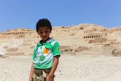 Bambino al deserto dell'Africa Fotografia Stock Libera da Diritti