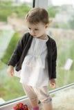 Bambino alla finestra Fotografie Stock Libere da Diritti