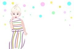 Bambino alla moda dell'illustrazione grafica astratta Fotografie Stock