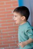 Bambino allegro con due anni sulla via Immagine Stock Libera da Diritti