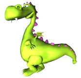 Bambino ambulante Dino del drago verde Fotografia Stock Libera da Diritti
