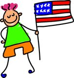 Bambino americano Fotografia Stock Libera da Diritti