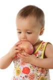 Bambino & mela immagini stock