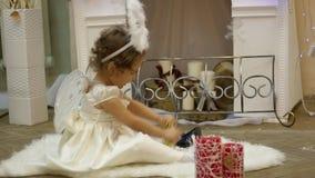 Bambino angelo stock footage