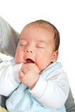 Bambino appena nato addormentato fotografia stock