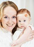 Bambino appena nato con la madre Fotografia Stock Libera da Diritti