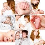 Bambino appena nato con la madre ed il padre Immagini Stock Libere da Diritti