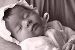 Bambino appena nato della traversina fotografia stock