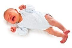 Bambino appena nato di grido immagini stock libere da diritti