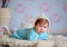 Bambino appena nato felice Fotografia Stock