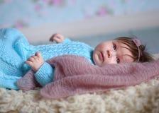 Bambino appena nato felice Immagini Stock Libere da Diritti
