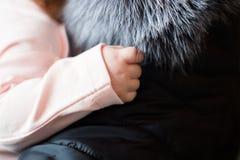 Bambino appena nato Mano del bambino Fotografia Stock Libera da Diritti