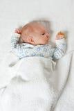 Bambino appena nato, vista superiore immagine stock