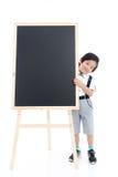 Bambino asiatico sveglio con il bordo nero Fotografie Stock Libere da Diritti